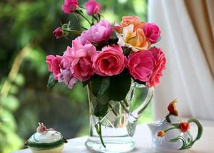 Букет срезанных роз