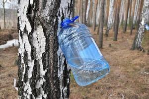 В пластиковую банку